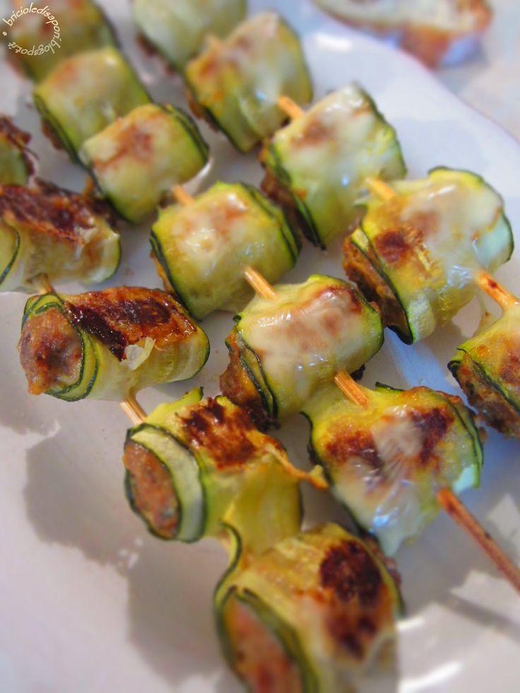 Saltimbocca mignon di zucchine ripiene di carne