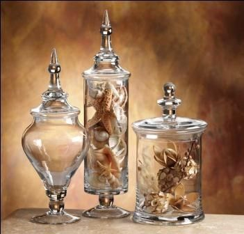 displaying in apothecary jars | Details about Elegant Transitional Glass Apothecary Jars Canisters S3