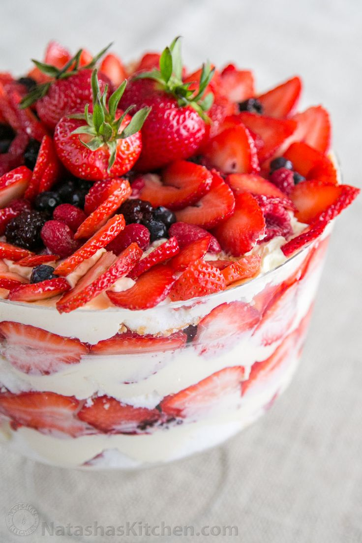 This Angel Food Trifle is a no-bake cake and takes very little effort. Can't go wrong with angel food, berries and cream. This berry trifle is so flavorful!