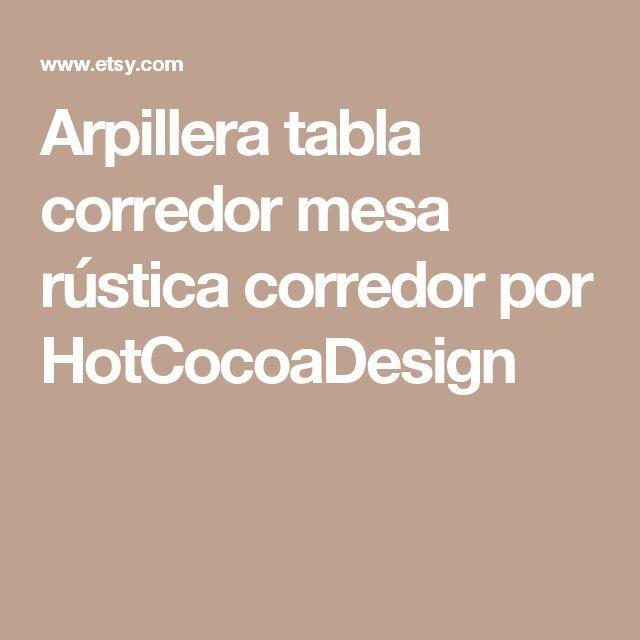 Arpillera tabla corredor mesa rústica corredor por HotCocoaDesign
