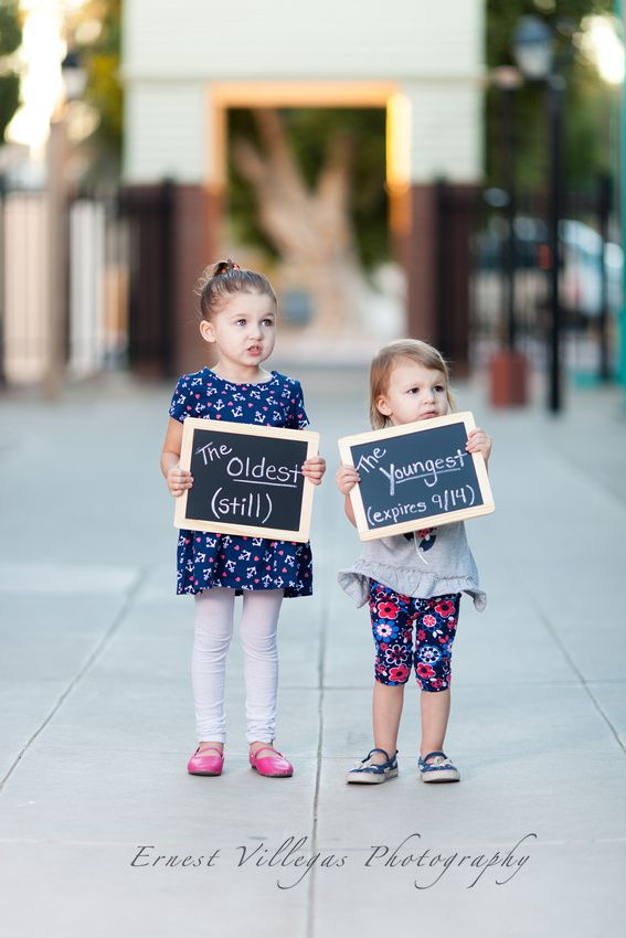 Sibling Baby Announcement Chalkboard Signs Cute Sisters Yuma – Cute Baby Announcement