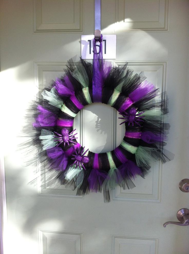 Halloween Tulle Wreath | Pinterest Inspired! | Pinterest ...