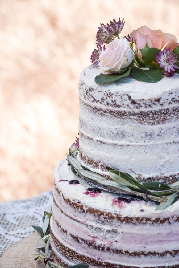 Naked wedding cake #FPEverAfter
