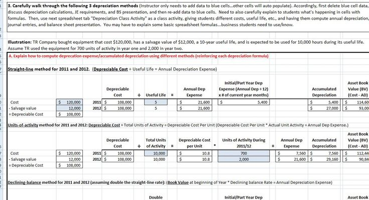 Depreciation Teaching Tool. Provides a simple way to comprehensively teach financial accounting depreciation concepts.