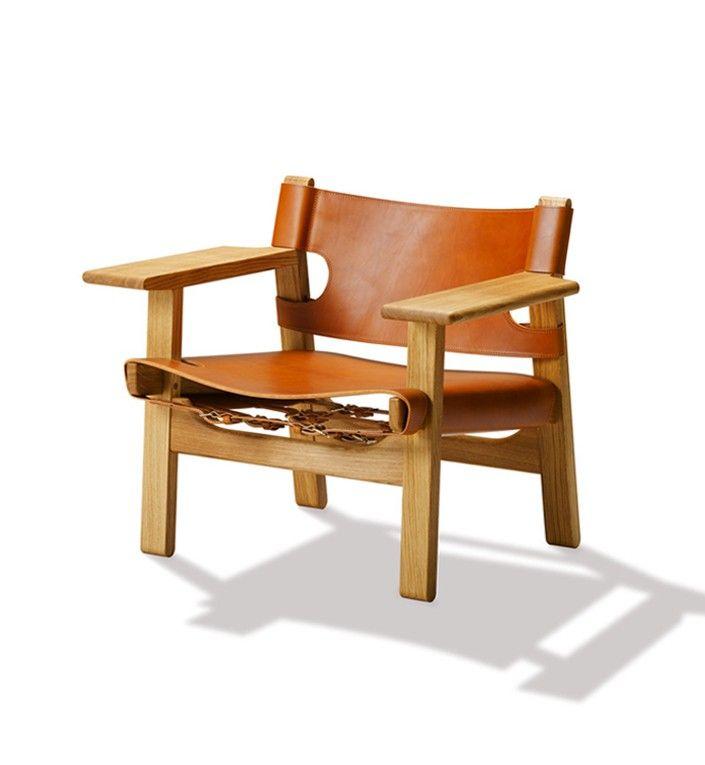 Den spanske stol - Eg olie/cognac læder