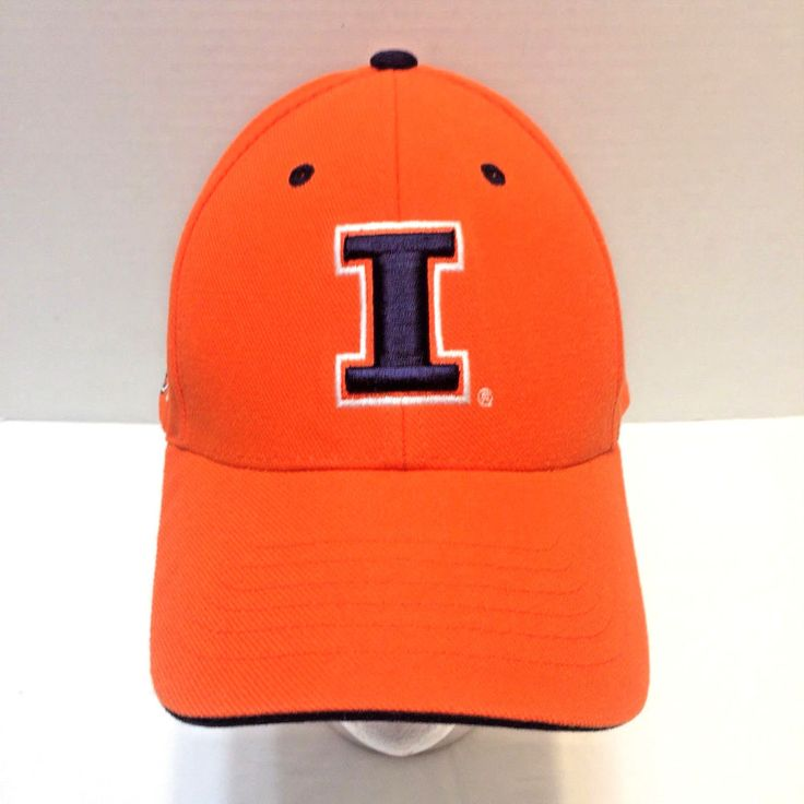 Illinois Fighting Illini Hat Orange Chief Illiniwek Baseball Cap Strapback #TeamPrideSportwear #IllinoisFightingIllini