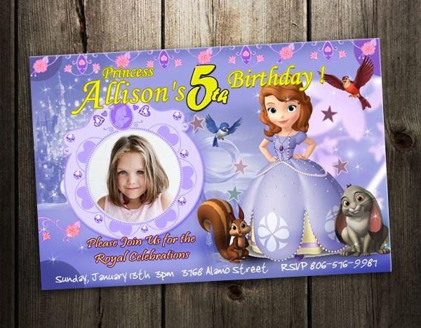 39 best Sofia 1st invites images – 3rd Birthday Invitation Cards