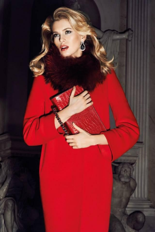 Caterina kolekcja jesień zima 2013  2014Caterina Kolekcja, Fashion, Marky Caterina, Red Dresses, Kolekcja Jesień, Kolekcja Marky, Caterina Lemans, Elegant Red, Red Coats