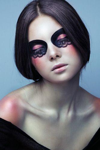 bridal ghost eye makeup idea...:)