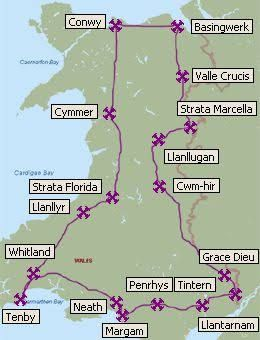 Image result for ancient roads north wales map