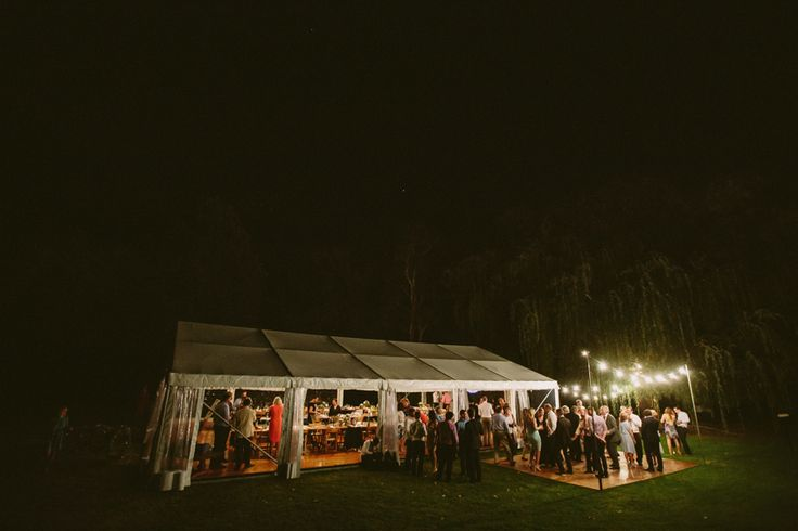 outdoor timber dance floor, festoon lighting, marquee wedding, full clear marquee, south coast weddings, south coast party hire