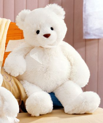 Beautiful white Teddy bear- Violets Christmas Present from Ian.