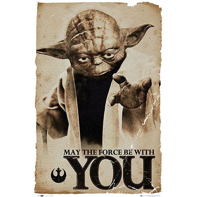 Star Wars Image imprimée Maître Yoda 61x91cm