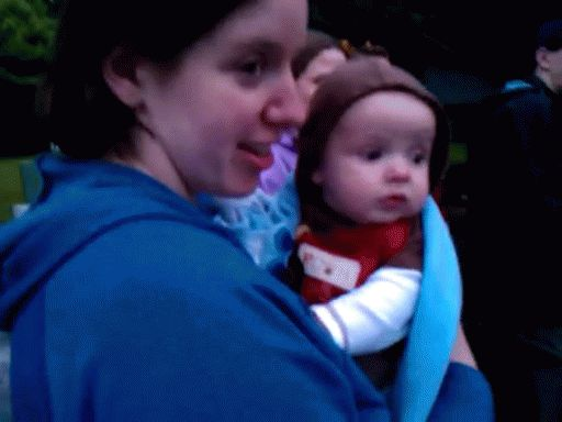 Baby reacts to fireworks. You have to click on the picture to get the animated version. :)