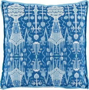 #10 Bombay Cobalt w/ Trellis Cobalt Gusset & Sky Linen Flange Pillow