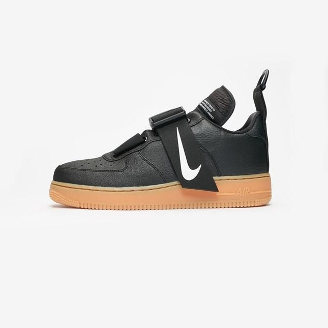 Nike Air Force 1 Utility Ao1531 002 Black White Gum Med Brown Sole