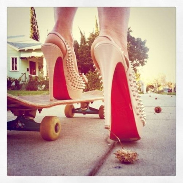 .: Studs, Things I Love, Girls Swag, Christian Louboutin, Accessories, Girls Shoes, Skateboard, My Style, Louboutin Pumps