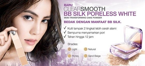 Clearsmooth BB Silk Poreless White 87.500 diskon jadi 84.000
