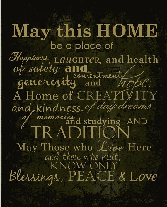 Home and Family Print 8x10 by HelloLoveBoutique on Etsy, $15.00