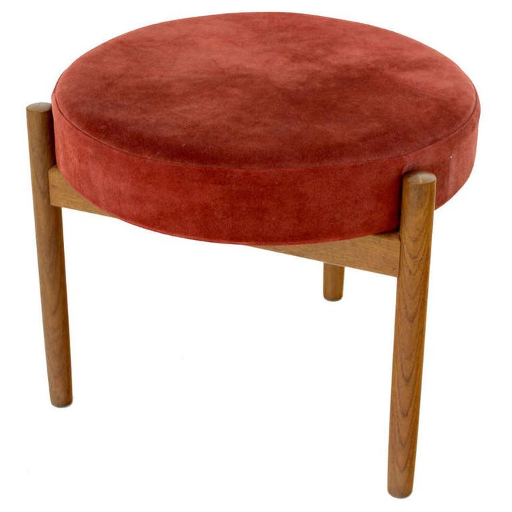 Danish Mid Century Modern Teak and Suede 3 Legged Stool Ottoman  sc 1 st  Pinterest & 63 best Three legged stools u0026 ideas images on Pinterest | Chairs ... islam-shia.org