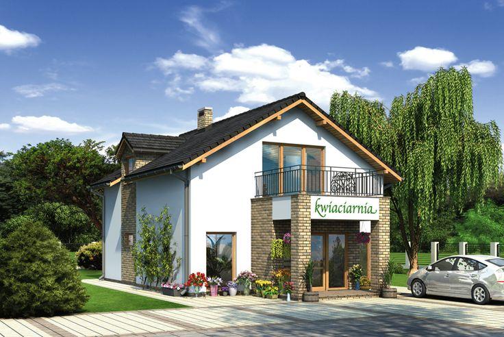 Na poddaszu przewidziano wygodne i funkcjonalne mieszkanie dla 2-3 osobowej rodziny.