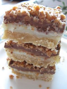 Toffee Chocolate Bars -- but dont use margarine -- ewww - only real butter = real food