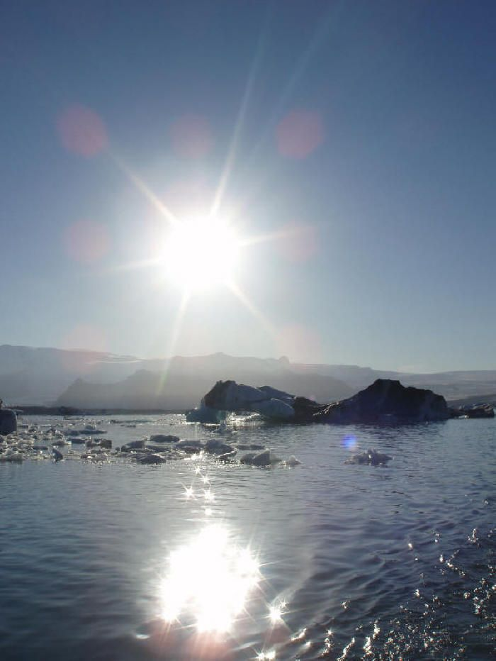 Sol de medianoche, Islandia