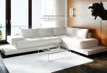 Vig Furniture Divani Casa 2226 Contemporary White Leather Sectional Sofa