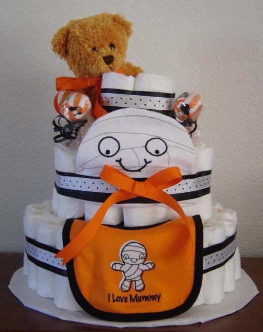 Halloween theme .. Diaper cake