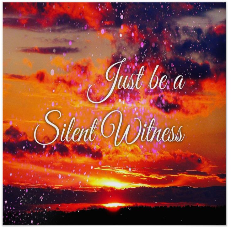 """""""Just be a silent witness."""" Dr. Deepak Chopra speaks often of this theme. I guess it's an extension of """"Don't Sweat The Small Stuff."""" I made the poster as a reminder, great to have it posted where you will see it every morning I thought. When I do remember to be a Silent Witness I feel quite proud of myself - not jumping in """"Where Angels fear to tread."""" There's a lot of wisdom in this sort of behaviour, protecting yourself from stress and harm."""