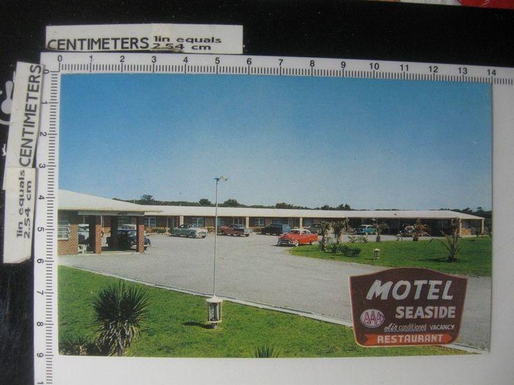 Seaside Motel - Fernandina Beach Florida - Vintage 1956 Postcard