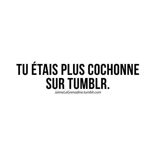 Tu étais plus cochonne sur Tumblr - #JaimeLaGrenadine #punchline #citation #tumblr