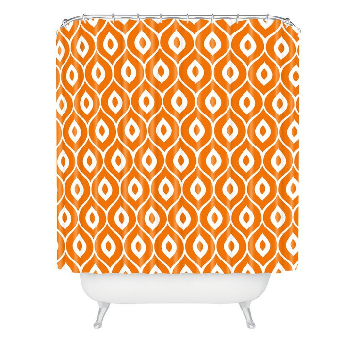 Aimee St Hill Leela Orange Shower Curtain | DENY Designs Home Accessories