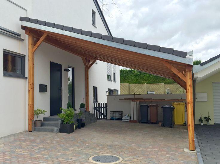 Untitled Carport Holz Garage Aus Holz Pultdach
