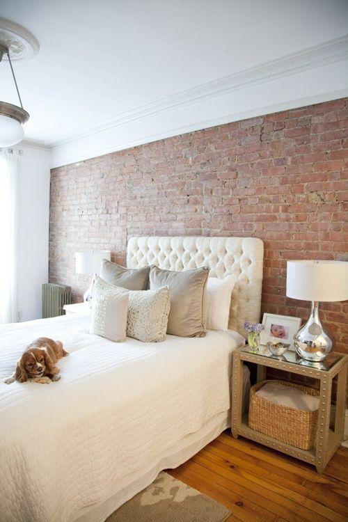 65 Interesting Bedrooms Designs With Brick Walls