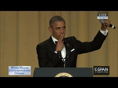 WHITE HOUSE CORRESPONDENTS ASSOCIATION DINNER ( April 30, 2016) ~ President Obama's complete speech (33:08) [Video] [Video]