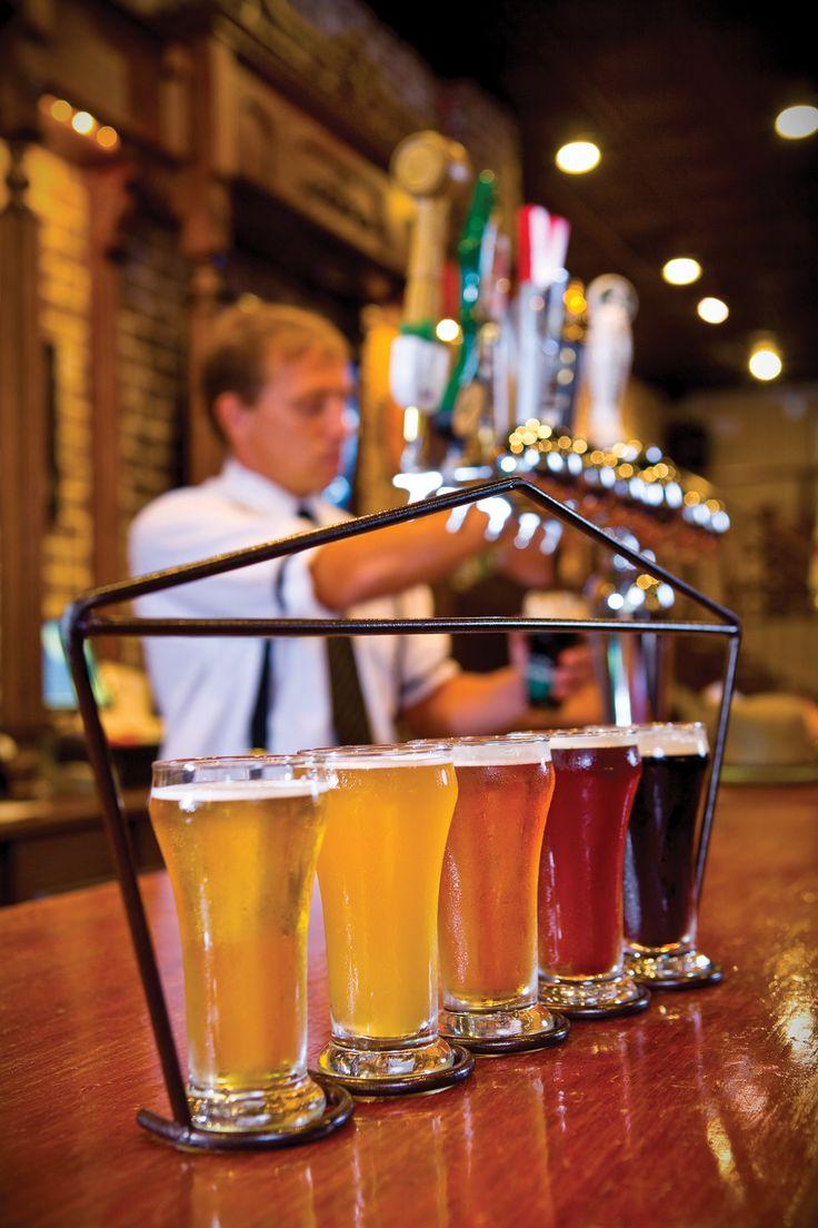 Beer tasting at The Distillery in downtown Savannah, Ga.