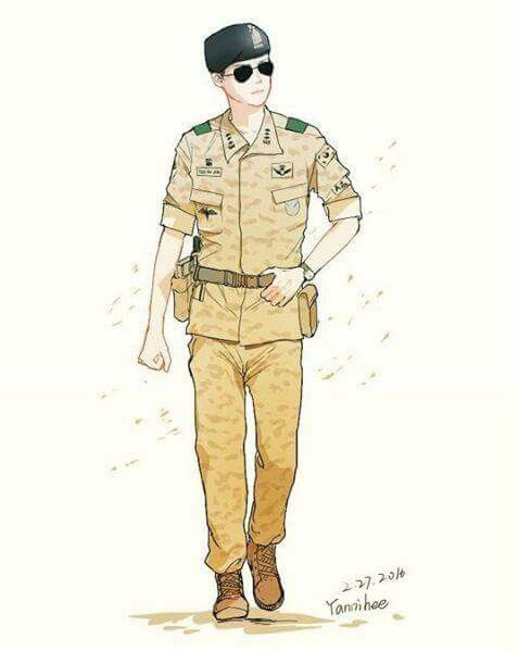 Song Joong Ki #Fanart #KDrama #DescendantsOfTheSun