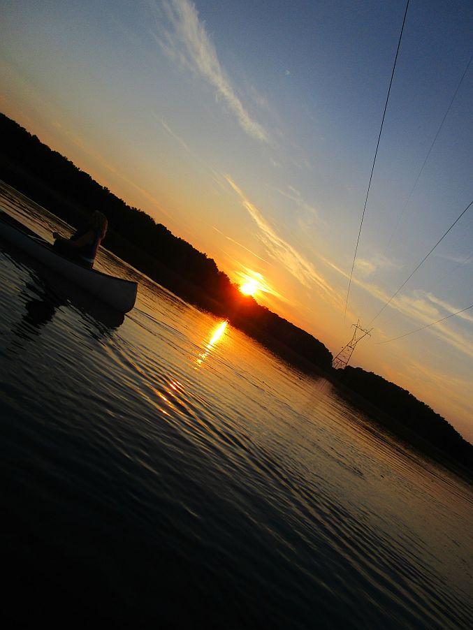 Sunset on Honker Lake Land Between the
