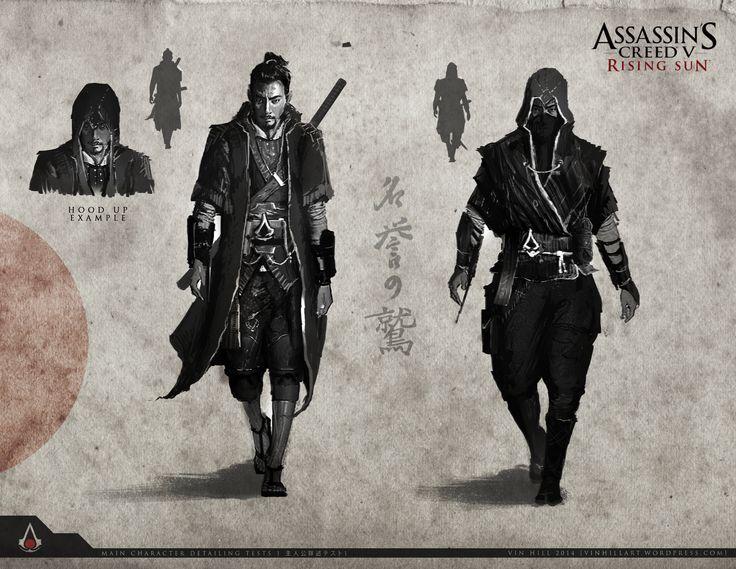 Curiosidade: artes feitas por fã mostram como seria um Assassin's Creed no Japão feudal | PS3 Brasil