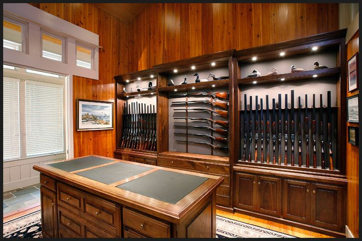Gun room living guns knives and weapons pinterest for Home gun room
