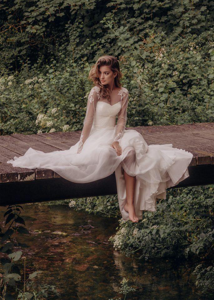 eead4d6ad30 Mermaid Wedding Dresses Detachable Skirt Jewel Neck Lace Appliques Satin  Long Sleeve Wedding Dress Sweep Train Plus Size Bridal Gowns