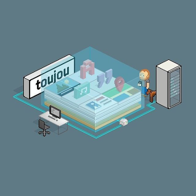 Building a CMS-Service which definitely has the cutest #infographic ever. This is toujou.  #pixelart #nerdish #typo3 #contentmanagement #art #onthejob #website #design #template #toujou #online #SaaS #retro #illustration