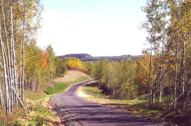 Looking East Toward Hibbing Minnesota From Top Of Grade On The