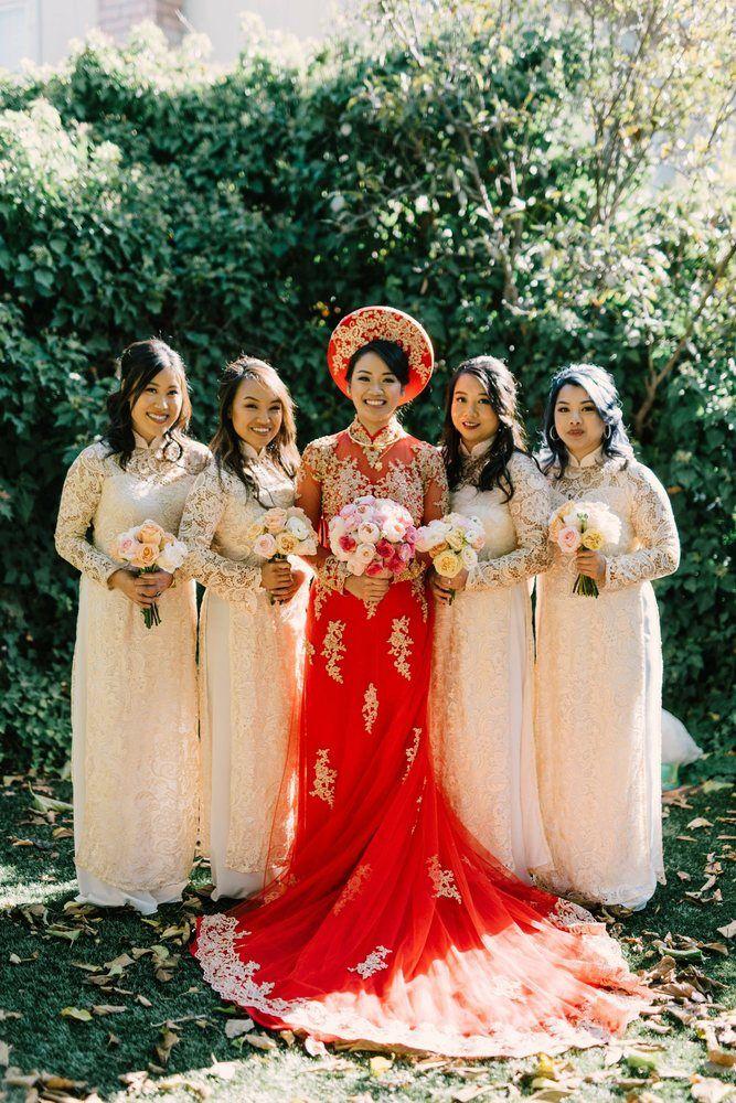 Photo Of Ao Dai Bao Han San Jose Ca United States Vietnamese Wedding Dress Traditional Vietnamese Wedding Vietnamese Wedding - Wedding Dress, Casual Boho Beach Wedding Dress With Side Slit Sophia Tolli