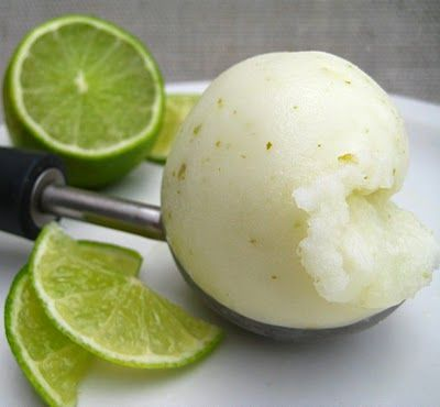 Homemade Lime Sorbet (without an ice cream maker)