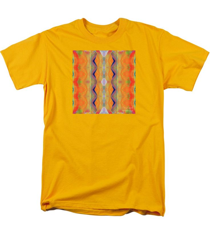 Bright Colorful Vibrant Mirror Pattern Men's T-Shirt (Regular Fit) featuring the painting H.p.mirror Print by Expressionistart studio Priscilla Batzell