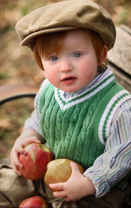 Precious little Irish lad.