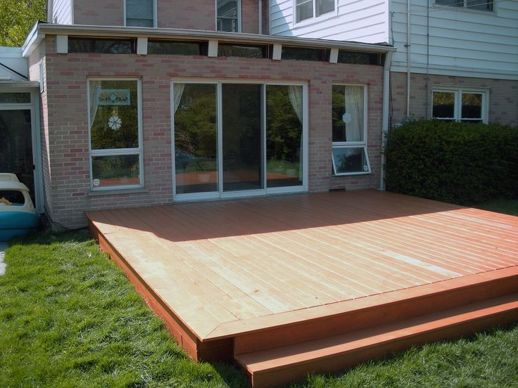 17 Best images about Deck - Wood on Pinterest | Decks ... on Wood Deck Ideas For Backyard id=96744