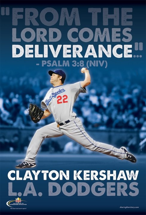 Clayton Kershaw, pitching tonight against the Cardinals, we're looking for a big win!!